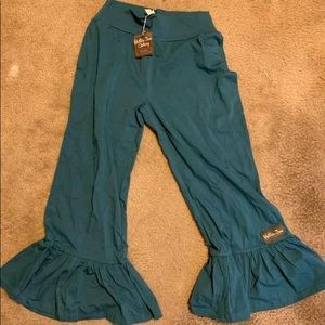 Blue baggy work pants